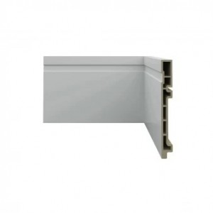 rodape pvc wood, branco, dimensões 150x18mmx2,4m