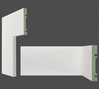 rodapé e guarnição de 10 cm de altura em mdf